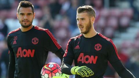 Romero và De Gea
