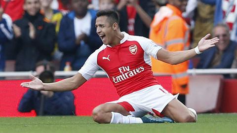 Sanchez đã ghi được 5 bàn thắng ở giải Ngoại hạng Anh 2015/16