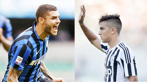 Cuộc chiến giữa Icardi (trái) và Dybala sẽ là tâm điểm của trận derby d'Italia