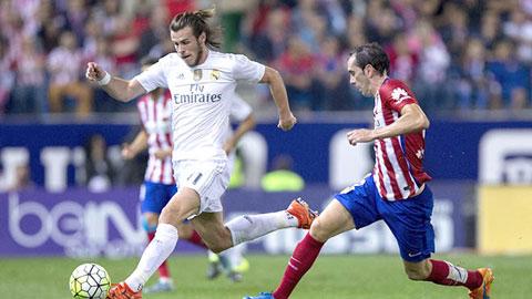 Real và Atletico hòa nhau 1-1 tại Vicente Calderon