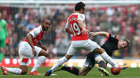 Cazorla đã thi đấu ấn tượng trong chiến thắng của Arsenal trước M.U