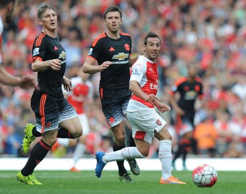 Schweinsteiger và các đồng đội đã chơi không tốt ở trận thua Arsenal