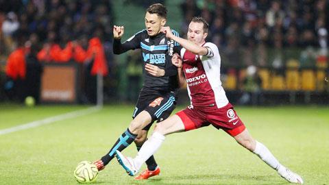 Rất có thể Marseille (trái) sẽ trắng tay trước Braga để khiến Ligue 1 tiếp tục lép về trước giải VĐQG Bồ Đào Nha trên BXH UEFA