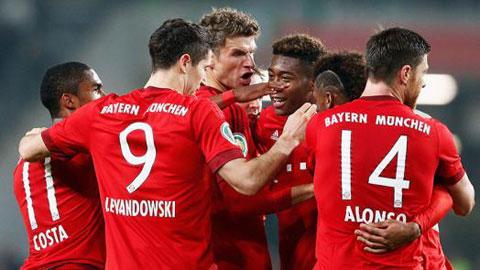 Vòng 2 cúp QG Đức: Bayern biến Wolfsburg thành cựu vương