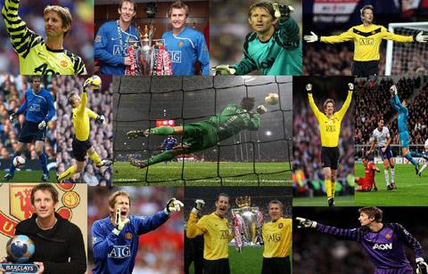 Van der Sar giành nhiều danh hiệu cao quý khi sang M.U