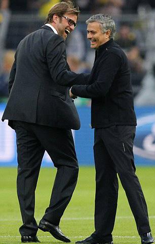 Ngoài công việc, Klopp và Mourinho dành nhiều tôn trọng cho nhau
