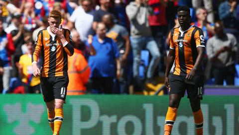 Hull nhận vé xuống hạng sau trận thua trước Palace
