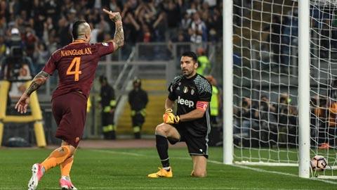 Juve thua Roma: Hoãn vô địch lại hay