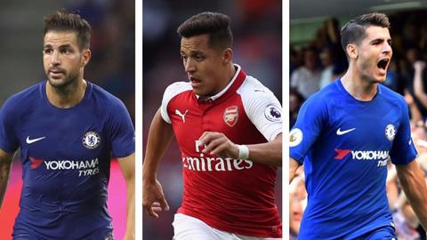 Đội hình kết hợp Chelsea vs Arsenal: Sanchez giữa biển áo xanh
