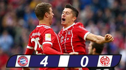 Lewandowski lập cú đúp, Bayern đại thắng