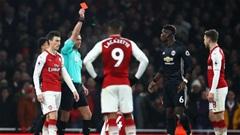 Lỡ derby Manchester vì thẻ đỏ, Pogba hận Koscielny