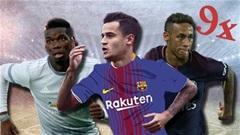 Coutinho, Pogba & đội hình 9x chuyển nhượng đắt nhất thế giới