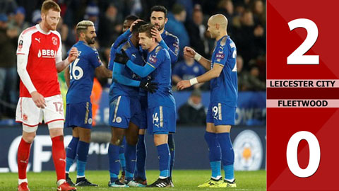 Leicester City 2-0 Fleetwood