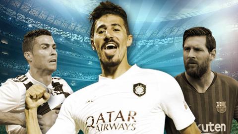 """Đồng đội vô danh của Xavi cho Messi và Ronaldo """"hít khói"""""""
