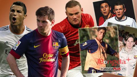 Ronaldo, Bale và Rooney thời 15 tuổi
