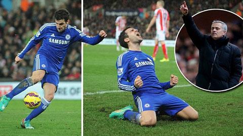 Chelsea tỏa sáng khi ghi dấu giầy ở cả 2 bàn thắng của Chelsea